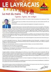 Bulletin municipal de Layrac - janvier 2015