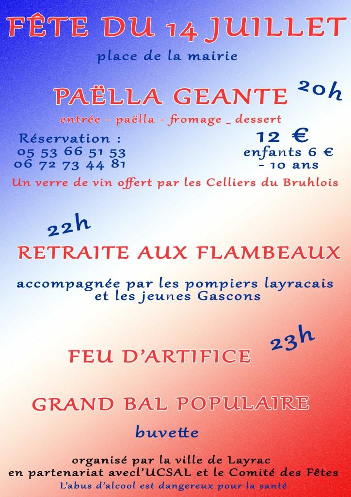 Fête du 14 juillet à Layrac