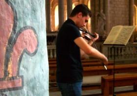 Récital de violon à Layrac par Jean-Baptiste SARROU