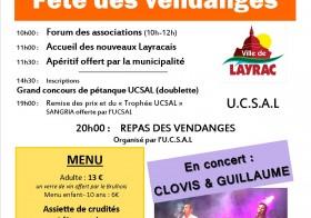 Repas des vendanges organisé par l'UCSAL samedi 20 septembre