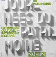 Journées Européennes du Patrimoine : Samedi 20 et Dimanche 21 septembre