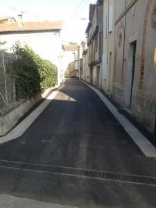 Rue des Baux de Layrac rénovée en 2014
