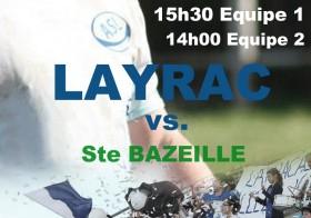 rugby : A.S.Layrac reçoit Sainte Bazeille