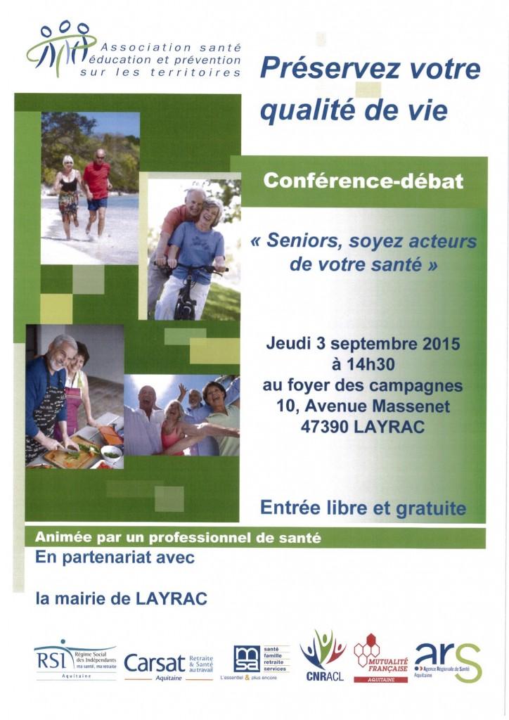 conférence la santé des séniors à Layrac