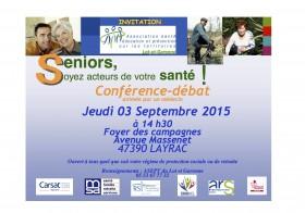Conférence séniors et santé