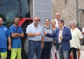 Nouveau tracteur pour les équipes techniques de Layrac