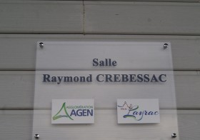 Baptême de la salle Raymond CREBESSAC