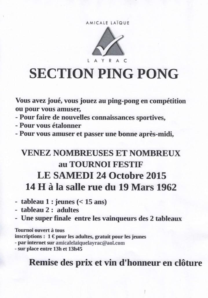 Tournoi de ping-pong à Layrac