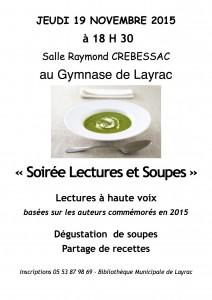 Soirée LECTURES et SOUPES de Layrac