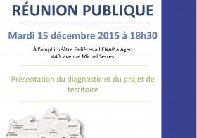 Réunion publique PLUi le 15 décembre